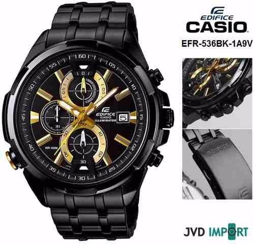 89063451c490 Reloj Casio Edifice Para Hombre Efr 536bk 1a9v Ref 13604 -   627.000 en  Mercado Libre
