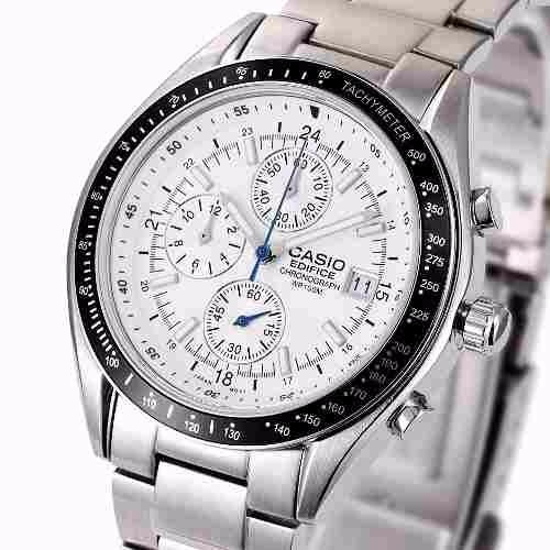 reloj casio ef-503d-7avdr, edifice, cronografo, inoxidable