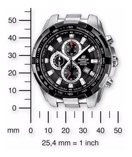 reloj casio ef 539d tablero negro red-bull 100% original