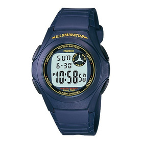 Reloj Casio F-200w Alarma,cronometro,digital Azul