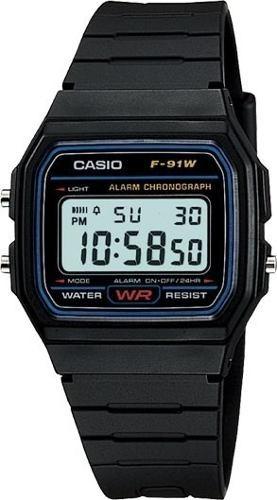 reloj casio f-91w alarma wr calendario luz cronometro digita