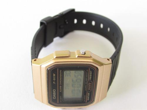 reloj casio f-91w retro gold |envio gratis|watchito|