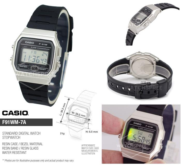 Calendario F Casio 91wm Crono Reloj Alarma 100Original 7a nO0P8kw