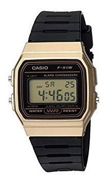 reloj casio f-91wm-9acf - dorado