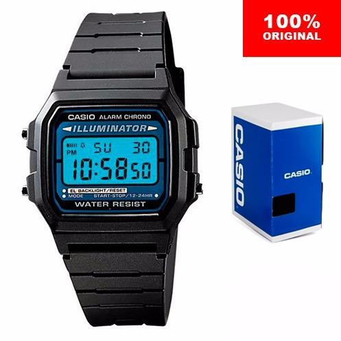 reloj casio f105 clasico- electroluminiscente - cfmx