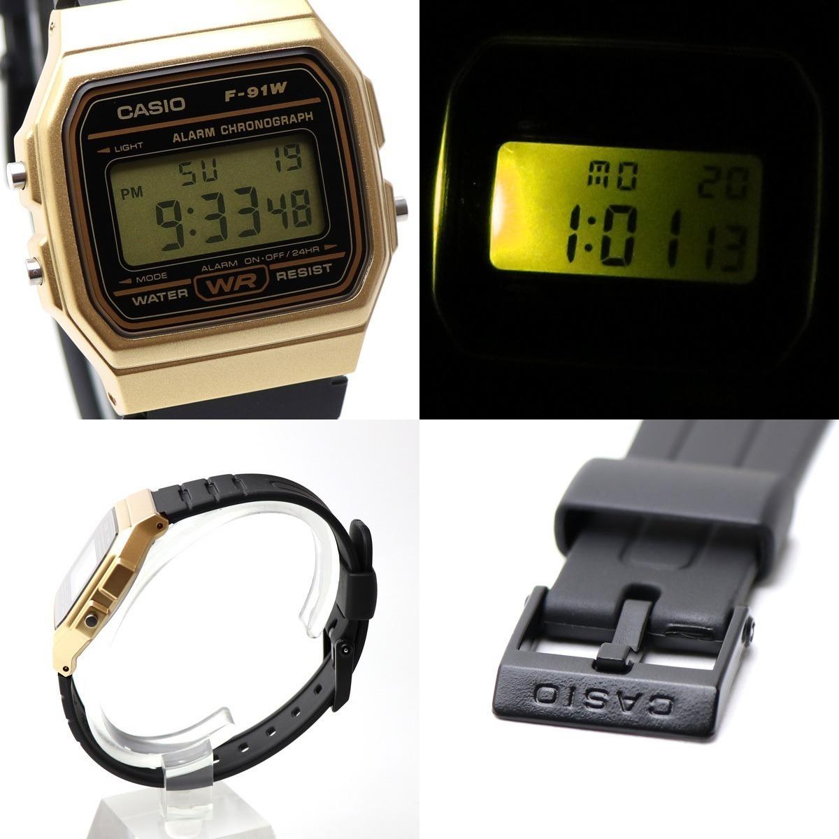 300ad63866ae reloj casio f91 original dorado retro vintage alarma luz. Cargando zoom.
