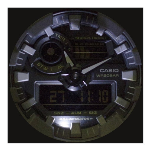 reloj casio front button caga700uc8acr hombre e-watch
