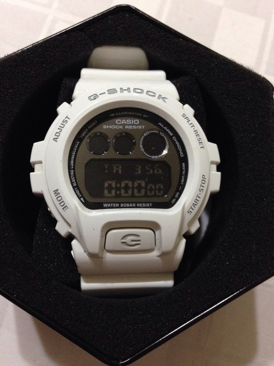 100Nuevo Reloj 3230 Y Blanco Casio Shock G Original Ee2IWH9YD