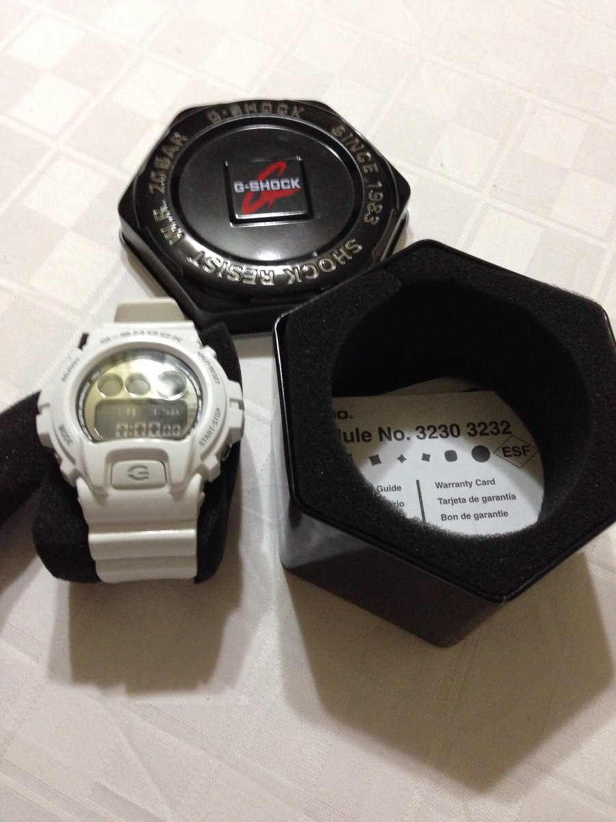 100Nuevo Casio Y Shock Reloj G Blanco Original 3230 m8nyvwO0N