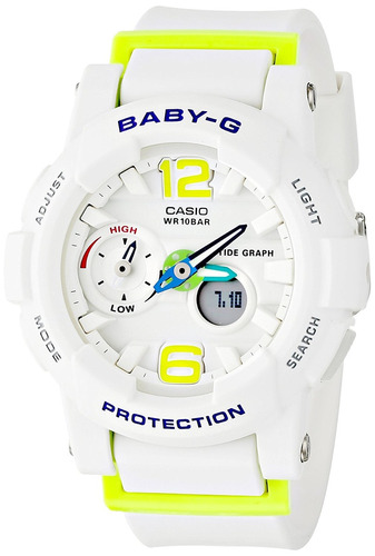 reloj casio g-shock bga180 blanco