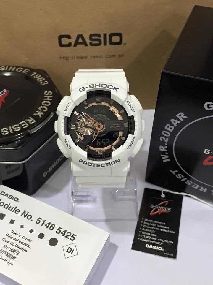 55916e7a7c8d Reloj Casio G Shock Blanco Dorado -   389.900 en Mercado Libre