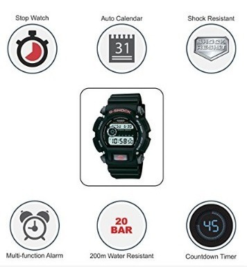 reloj casio g-shock deportivo wr200metros dw9052-1v