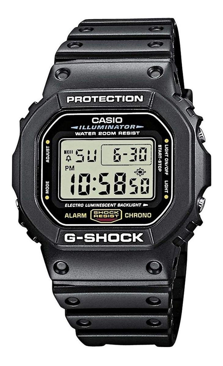 Reloj Casio G Shock Dw 5600 Clasico Cristal Mineral Alarma