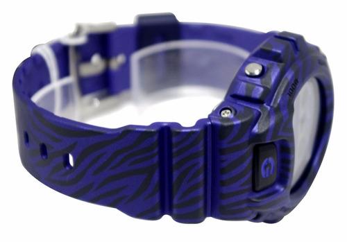 reloj casio g-shock dw 6900zb 2dr morado rayas original
