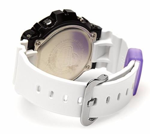 reloj casio g-shock dw6900sc-1 negro morado mujer original