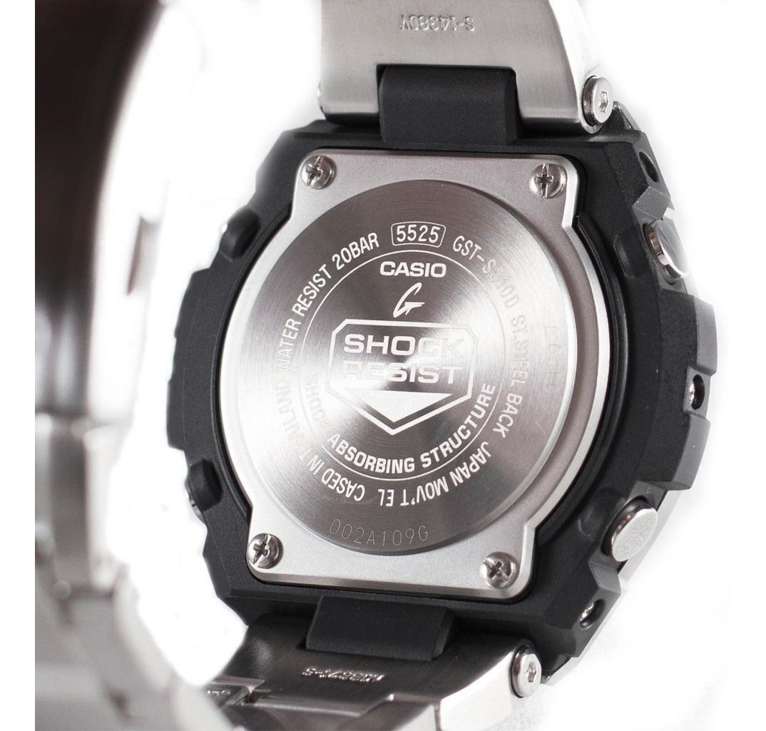 Mide Casio Shock Solar Plateado Size G Reloj Steel XiPZkuO