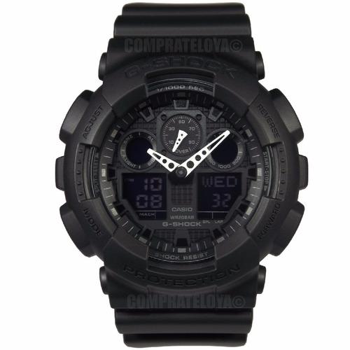 reloj casio g-shock ga-100-1a1dr original con garantía
