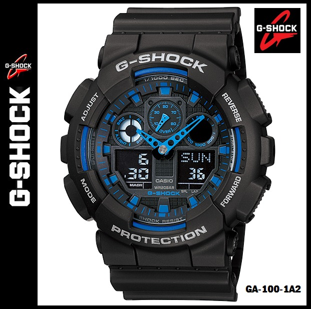 b1e4108627ae reloj casio g shock ga 100 1a2 nuevo y original en caja