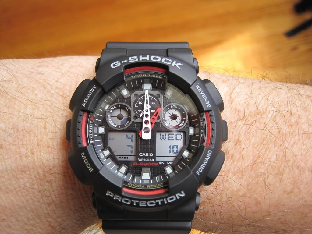 34c53bb9765b reloj casio g-shock ga-100-1a4 - 100% nuevo y original. Cargando zoom.
