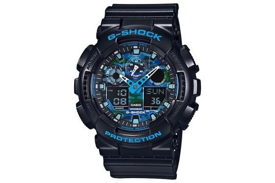56ea1f58a499b Reloj Casio G-shock Ga-100cb-1a Masculino Azul Deportivo -   8.699 ...