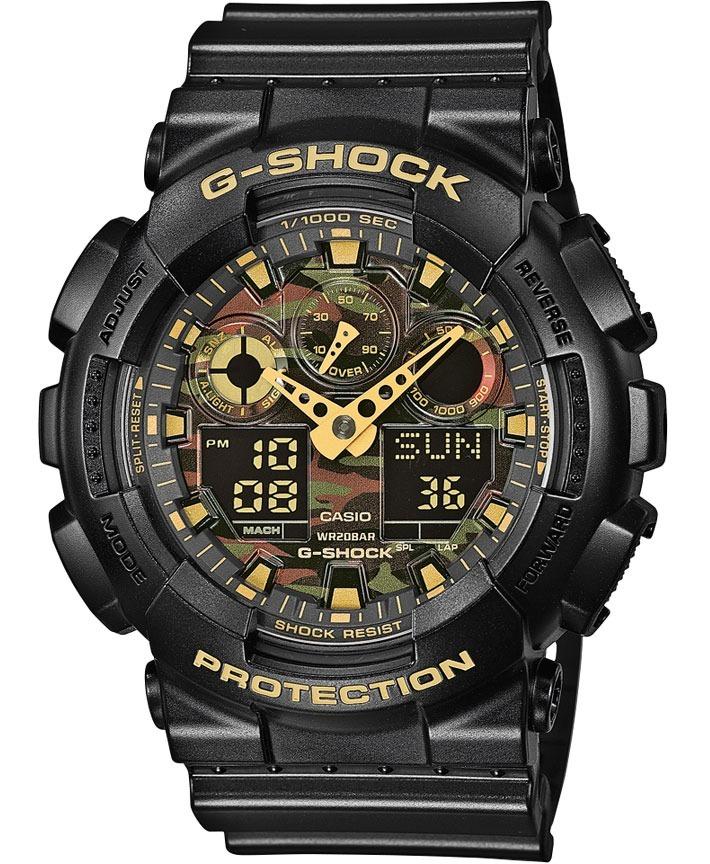 6d684c16986c reloj casio g shock ga-100cf negro c camuflaje 100% original. Cargando zoom.