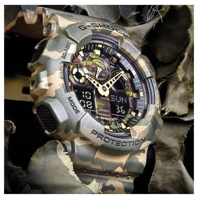 precios baratass varios diseños elige el más nuevo Reloj Casio G-shock Ga-100cm-5a Militar Camuflado