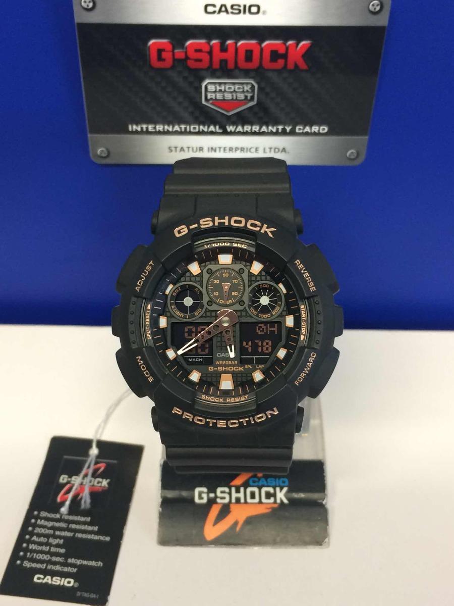 2fe5864c8bd3 reloj casio g-shock ga-100gbx-1a4 original color negro mate. Cargando zoom.