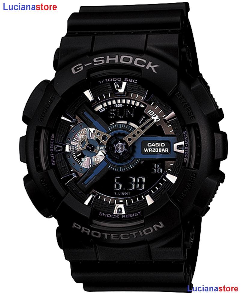 5d3d9acf402fb reloj casio g-shock ga-110 - 1bdr negro -100% original -. Cargando zoom.