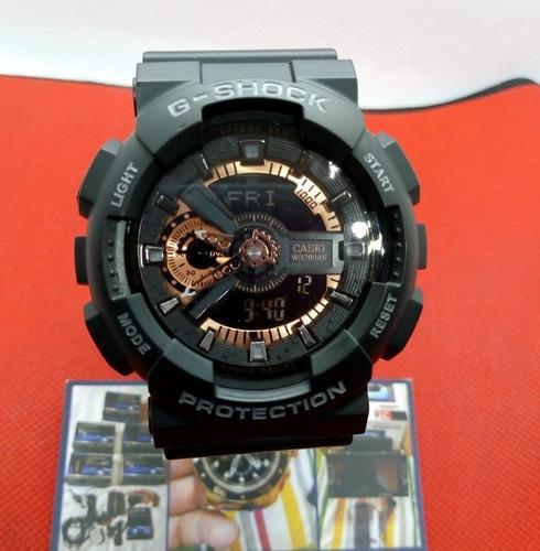 reloj casio g-shock ga-110 negro cobre