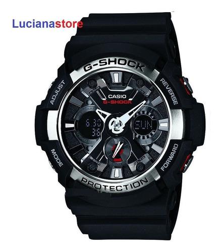 reloj casio g-shock ga-200  negro - 100% original ztr