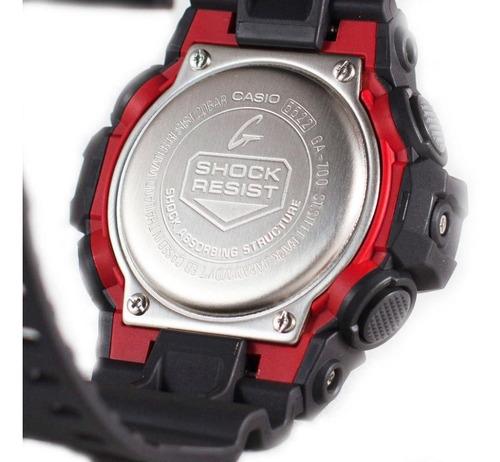 reloj casio g-shock ga-700-1a anadigi negro/rojo