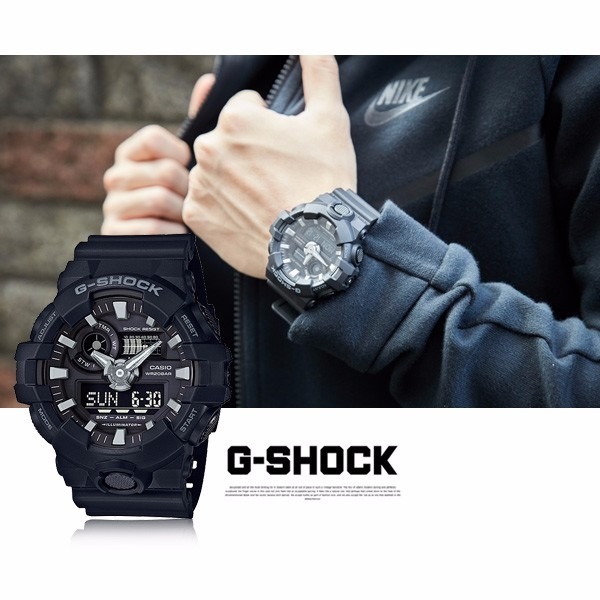 Reloj Casio G-shock Ga 700 1b Sumergible 200 Garantía 2 Años ... 0f397d70ac28