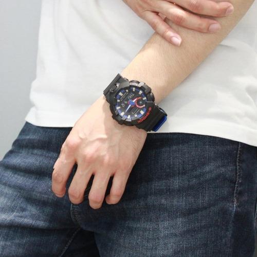 reloj casio g shock ga 700 edición especial negro / azul