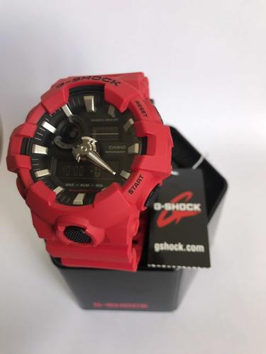 reloj casio g-shock ga-700 rojo original (200)