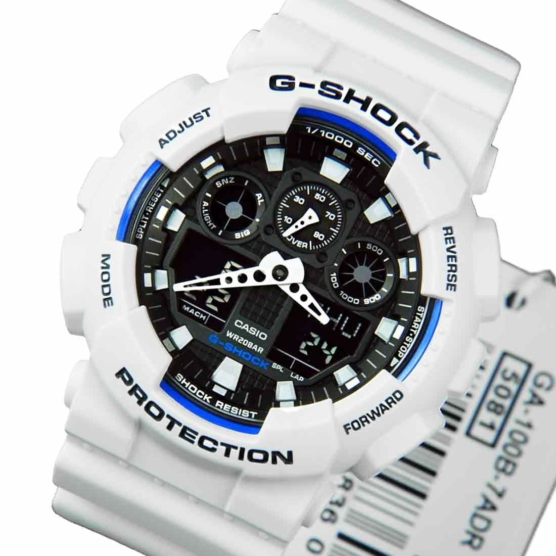 91ff9be78399 reloj casio g-shock ga100b-7a en stock original genuino. Cargando zoom.