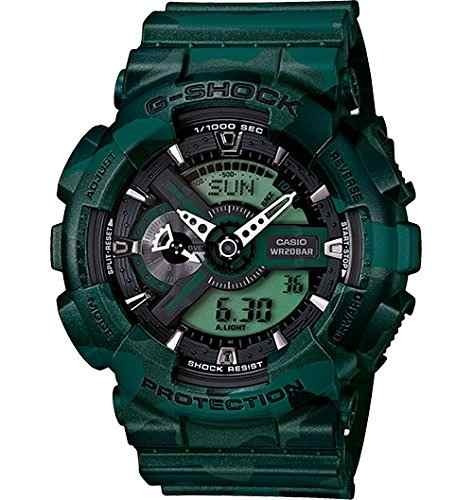 reloj casio - g-shock  ga110cm-3a verde
