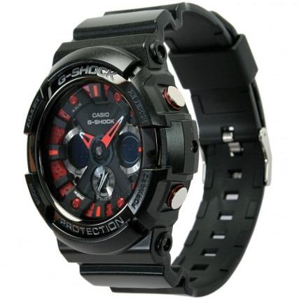 Ga200 Rojo Con Shock Negro Reloj G Casio c513KJlFuT