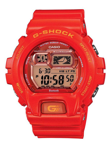 reloj casio g-shock gbx rojo masculino