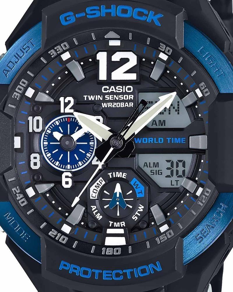 Reloj Casio G shock Gravity Defier Para Caballe ga 1100 2bcr