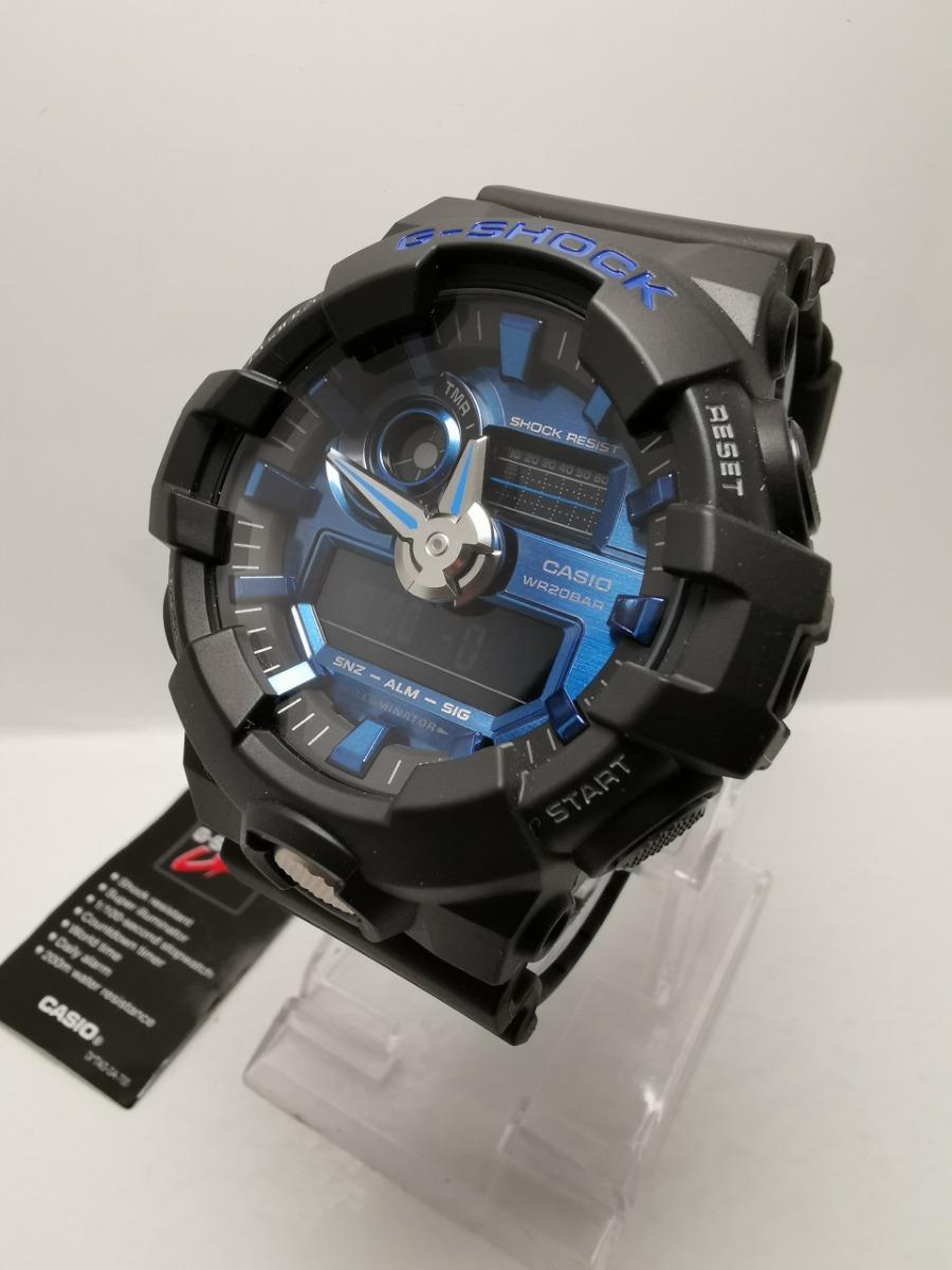 c3872738bac6 Reloj Casio G Shock Hombre Ga710-1a4 Negro Azul Original -   415.000 ...