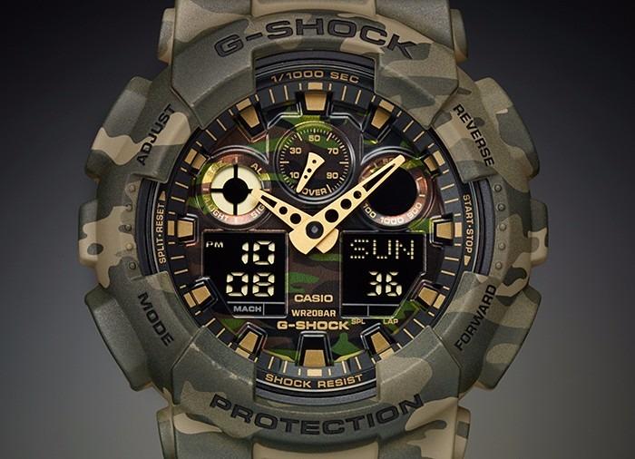 12f48b42957f Reloj Casio G-shock Military Camuflado Y Negro -   9.133