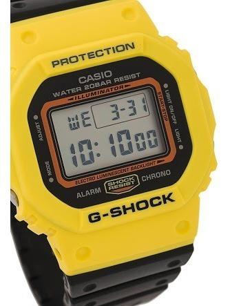 Reloj Casio G Shock Modelo Dw 5600 Amarillo Con Negro