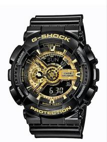 Reloj Casio 110 Con G Negro Dorado Ga Shock Modelo m08nNw