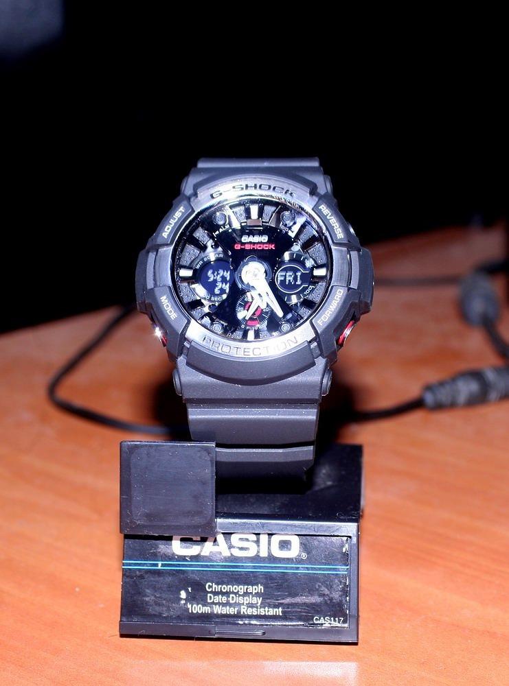 f390970a9fc6 reloj casio g-shock negro militar acuático ga-200 coleccion. Cargando zoom.