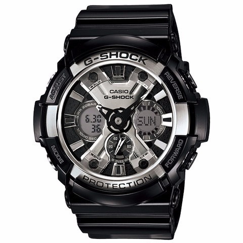 reloj casio g-shock protection ga200bw1a negro plat original