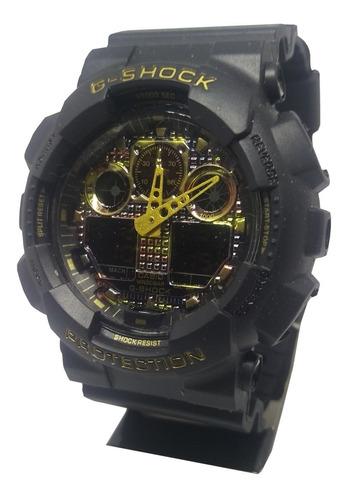 reloj casio g-shock v2 negro , deportivo, nuevo, militar