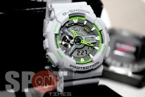 reloj casio ga-110ts-8a3cr g-shock gris/verde envío gratis