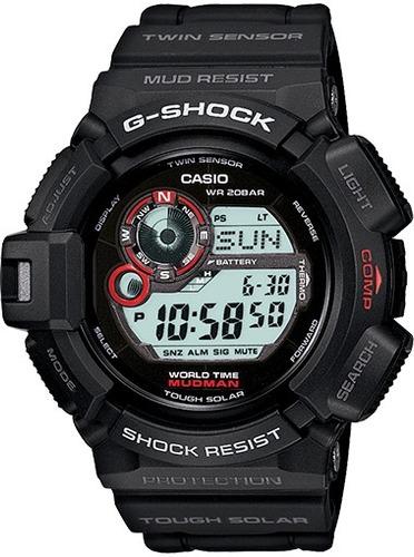 reloj casio gs mudman ts compass blk resin g-9300-1cr