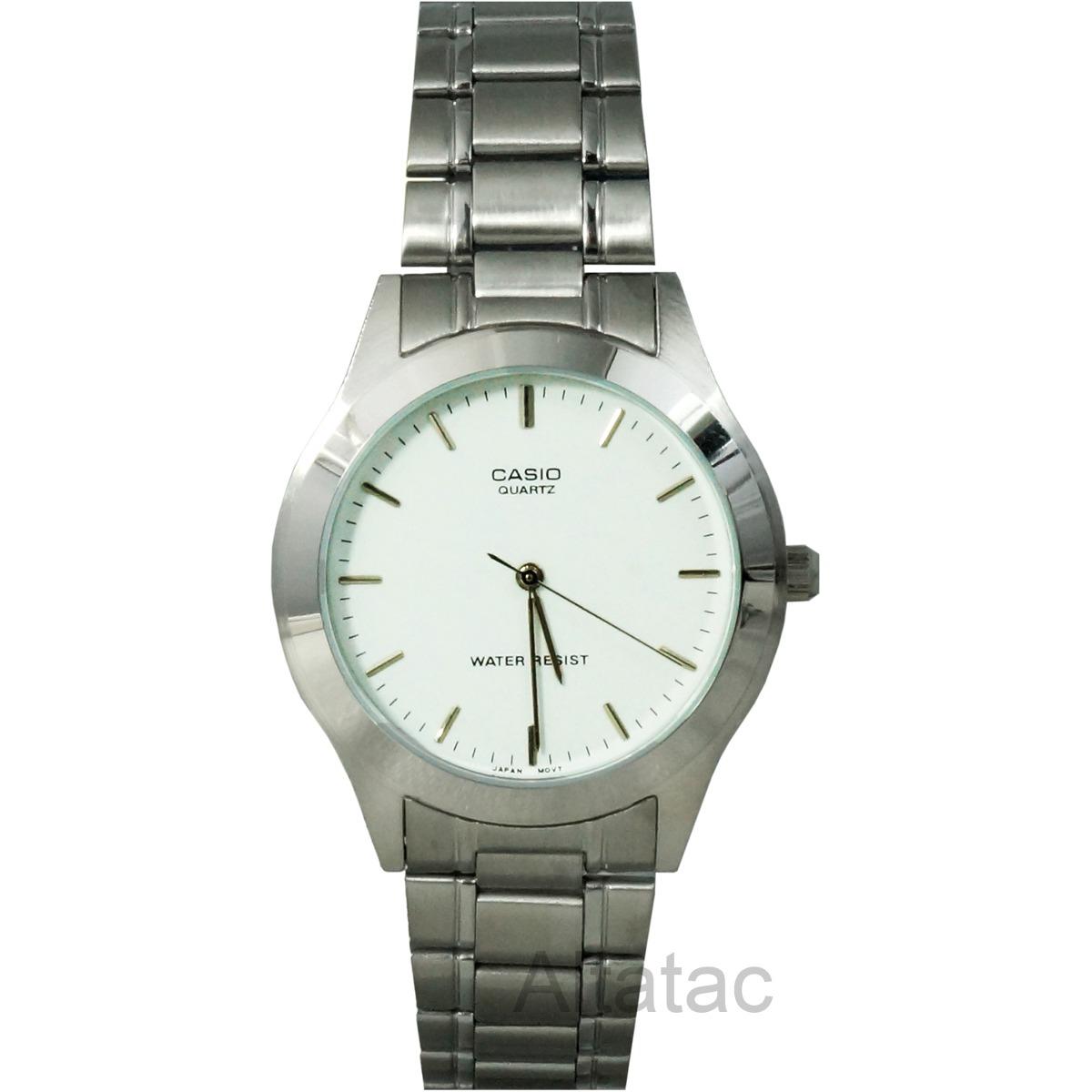 Características. Marca Casio  Modelo MTP-1128A  Género Caballero  Color de  la caja Plata  Material de la correa del reloj pulsera Acero inoxidable ... 8ab0f8bac938