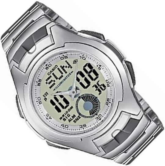 ecbf7d1694f1 Reloj Casio Aq-160wd-7b Hombre Illuminator Acero Sumergible ...
